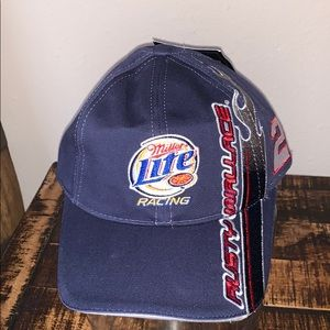 NWT Chase Authentic blue Miller Lite racing hat